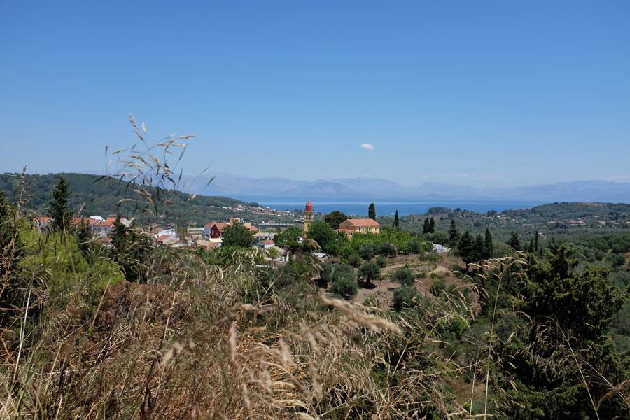 Aussicht auf Korfu