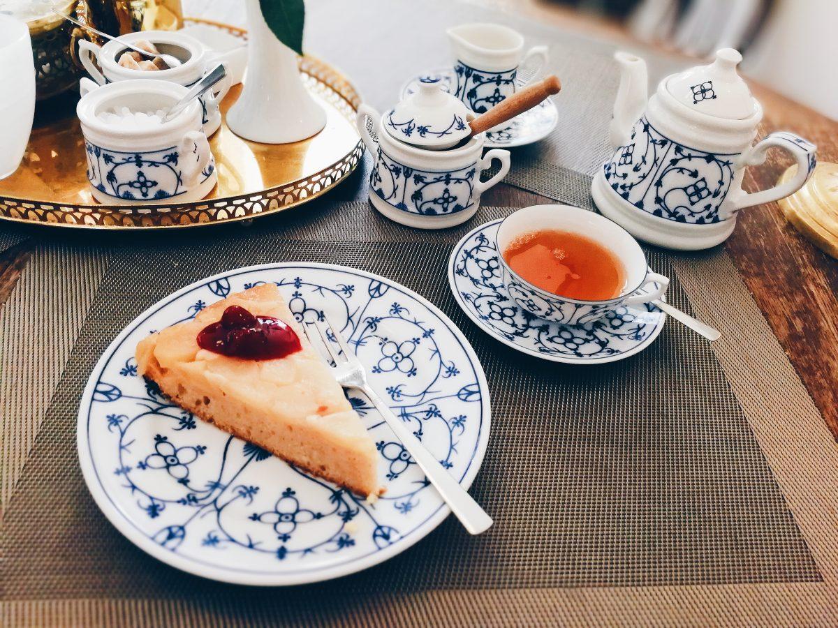 Teestübchen Schnoor Bremen Tea vegan cake veganer Kuchen